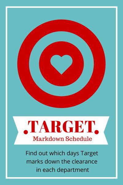 Target Schedule - Find out which days target marks down clearance in each department.