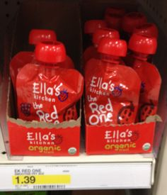 The high value $1/1 Ella's Kitchen printable coupon has returned. Use the coupon at Target to pick up their Fruit Pouches for only $ .39.