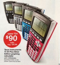 Target Ti 84 Plus Silver Edition Graphing Calculator Only 90