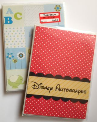 Diy disney autograph photo book