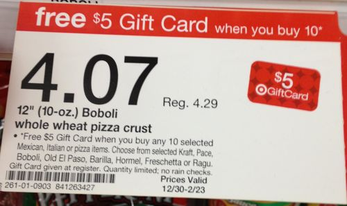 Target: Get $5 Gift Card when you buy 10 Italian, Mexican or Pizza ...