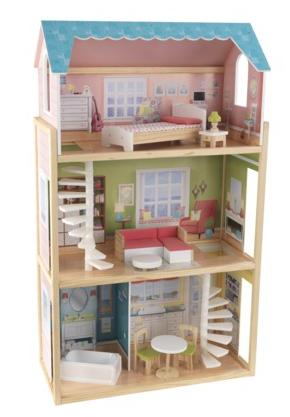 Play Wonder Wooden Dollhouse With Furniture 50 Off 65 All Things Target