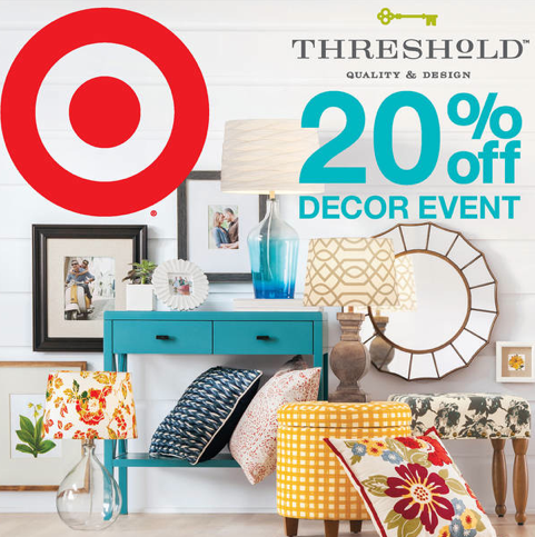Target Threshold Home Decor 20 Off Coupons