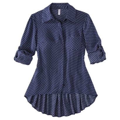 e96ca99a One of Target.com Daily Deals for today, is a cute one for juniors! Save up  to 39% off on Xhilaration Juniors Button Down High Low Tops.