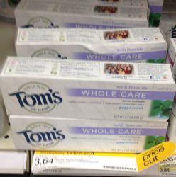tom's toothpaste