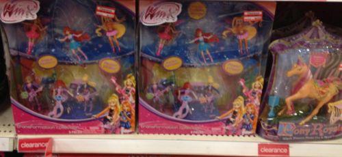 clear toys girl
