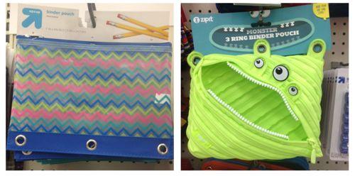 school supplies pencil pouches