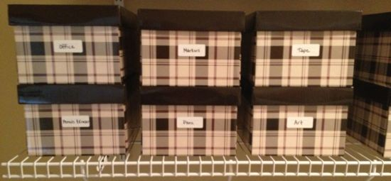 school supply storage boxes