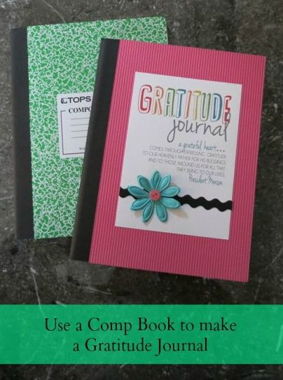 Gratitude Journal made out of a Comp Book