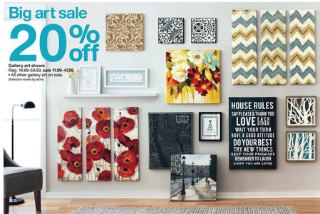 Target: Wall Art 20% off + 15% off with Cartwheel - All Things Target