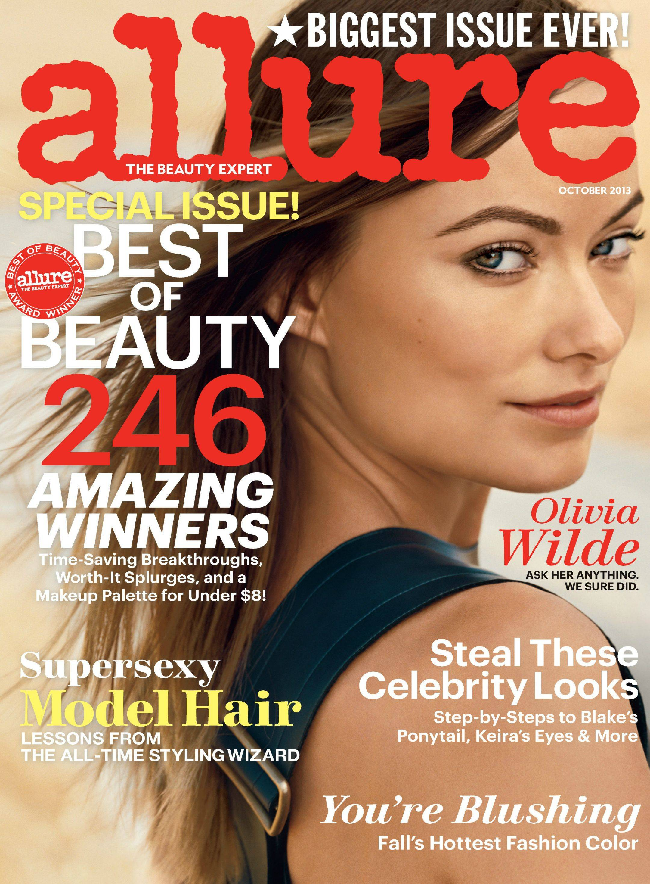 allure magazine wilde olivia october covers beautystat issue skincare treatment makeup magazines month aniston fame asked advice subscriptions wired latina