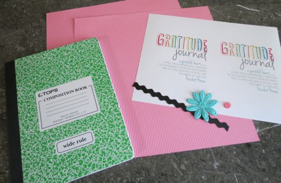 gratitude journal supplies