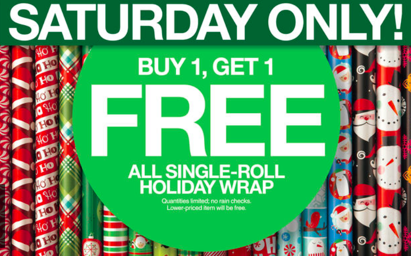 Target: Wrapping Paper Buy 1 Get 1 FREE + Christmas Trees 50% off ...