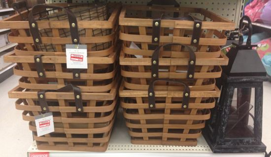 clear baskets