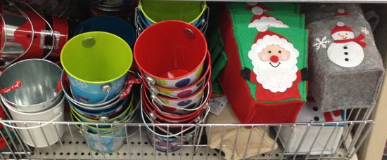 Target new dollar spot items for november christmas for Christmas tin pails