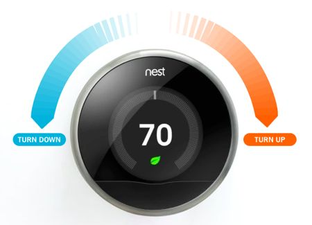 Nest thermostat up or down