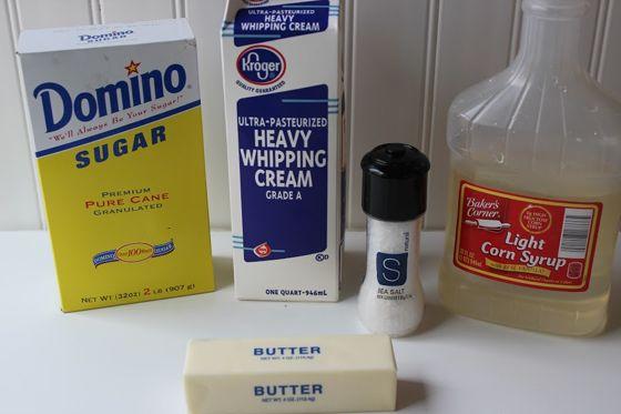 Salted Caramel Ingredients