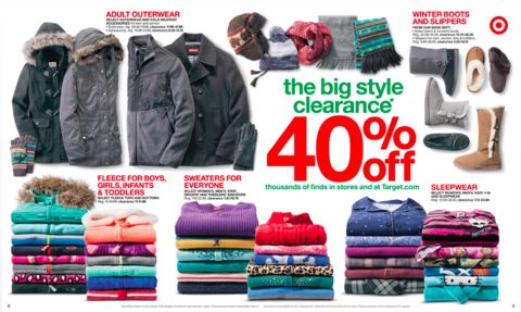 target 40 off clothing