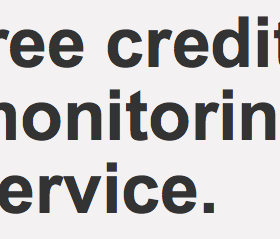 Target offers FREE Year of Credit Monitoring Service to all Customers