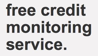 Target free credit monitoring service
