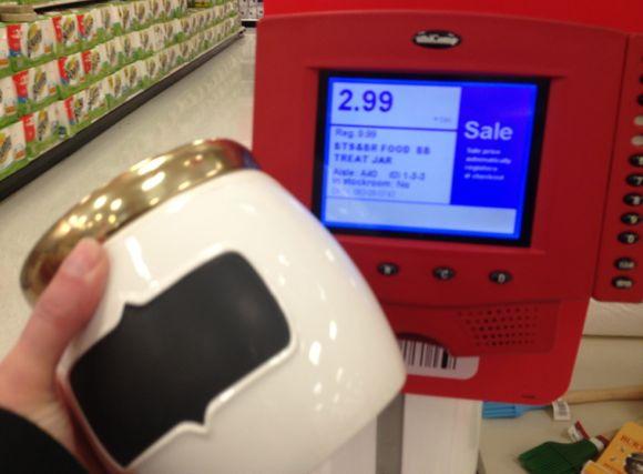 target hidden clearance dog treat jar
