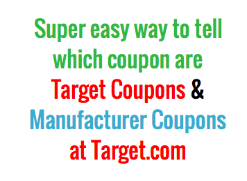 how to figure out if the coupons at targetcom are target or manufacturer coupons