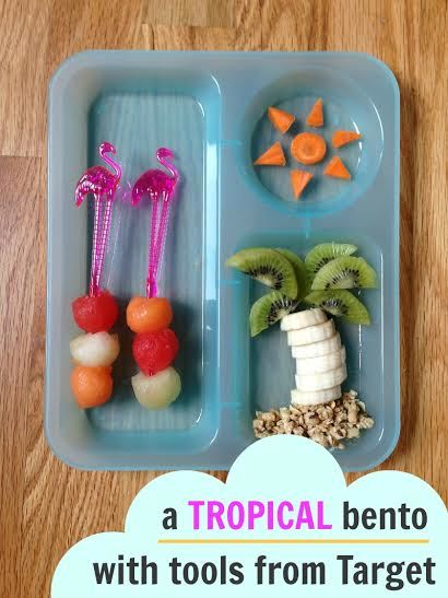 Tropical Bento Lunch with tools from Target