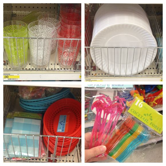 dollar spot plates. Plastic ...  sc 1 st  All Things Target & New Item in the Target Dollar Spot (Dinnerware 4th of July Summer ...