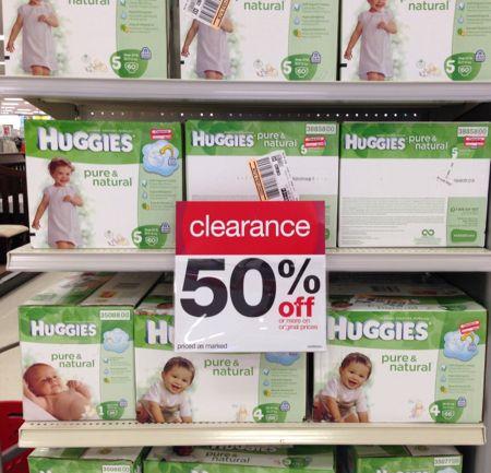 target diaper clearnance