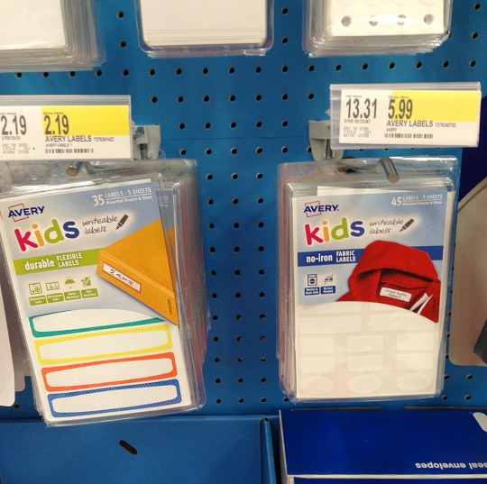 target lunchbox labels
