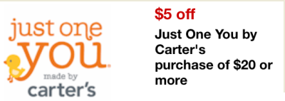 e96225b57e0d Target Mobile Coupon $5 off $20 Just One You by Carter's Purchase ...