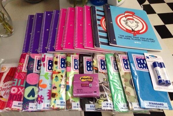 90 off school supplies