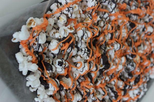 halloween popcorn drizzle
