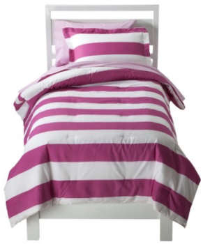 Marvelous Circo Rugby Stripe Bed Set Pink White reg SAVE