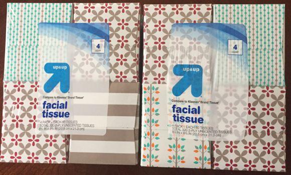 Hidden Target clearance facial tissue