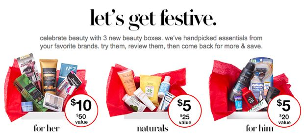 Target holiday beauty box
