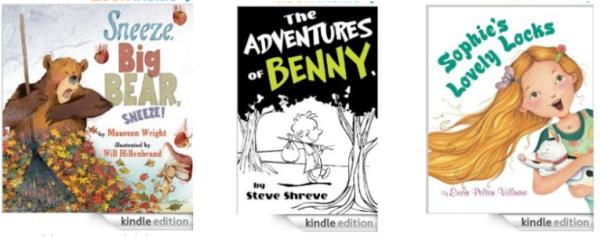 amazon kid kindle book collage
