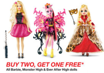 Targetcom Buy 2 Get 1 FREE on Barbie Monster High  Ever After