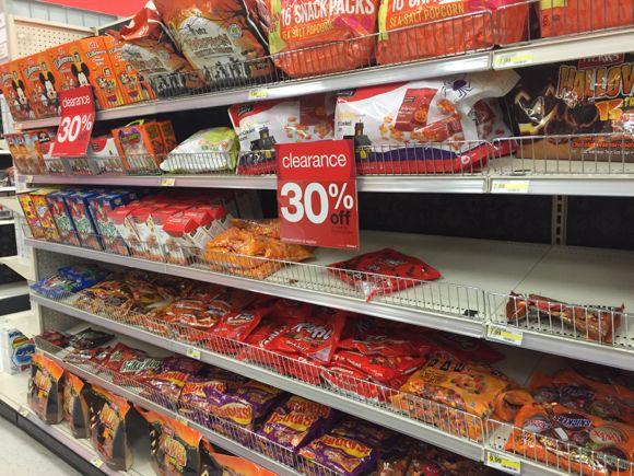 halloween food clearance 30 off