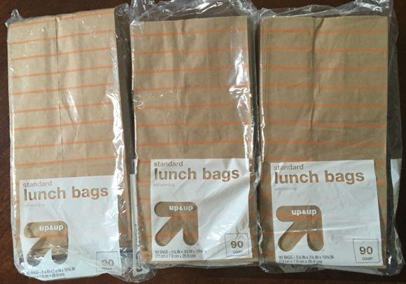 hidden target clearane lunch bags