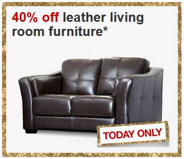 40 off leather living room furniture 11 22 for Living room 50 off january