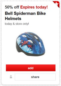 target cartwheel offer helmet