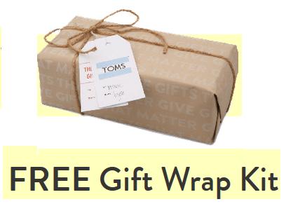 toms free gift wrap