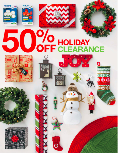 Target christmas clearance 50 off all things target for Christmas sale items
