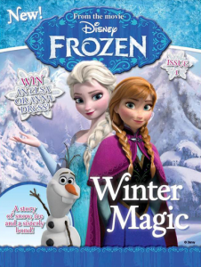 disney frozen mag