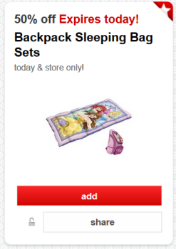 target cartwheel offer sleeping bag