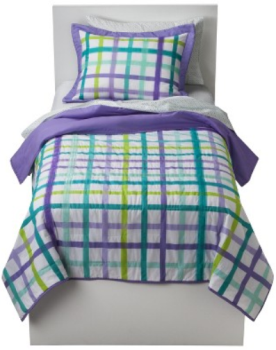 Elegant target clearance bedding Circo Plaid Quilt Set