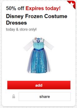 target frozen dress