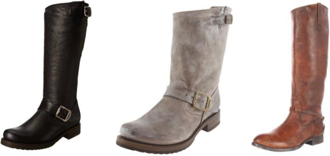 amazon frye boots collage