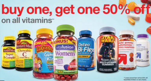 target ad vitamins